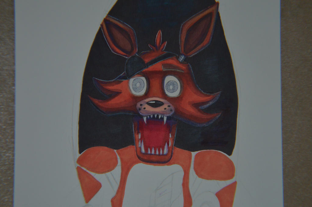 Foxy in progress by AnaMarina22