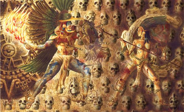 Huitzilopochtli y Coyolxauhqui by E-X-G