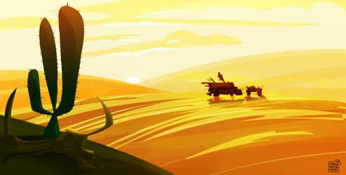 Draw Practice Desert by dakalister