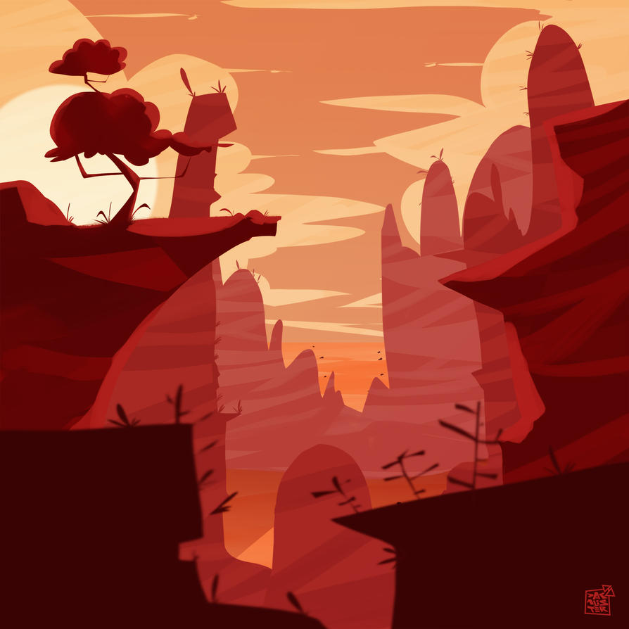 Landscape Red by dakalister