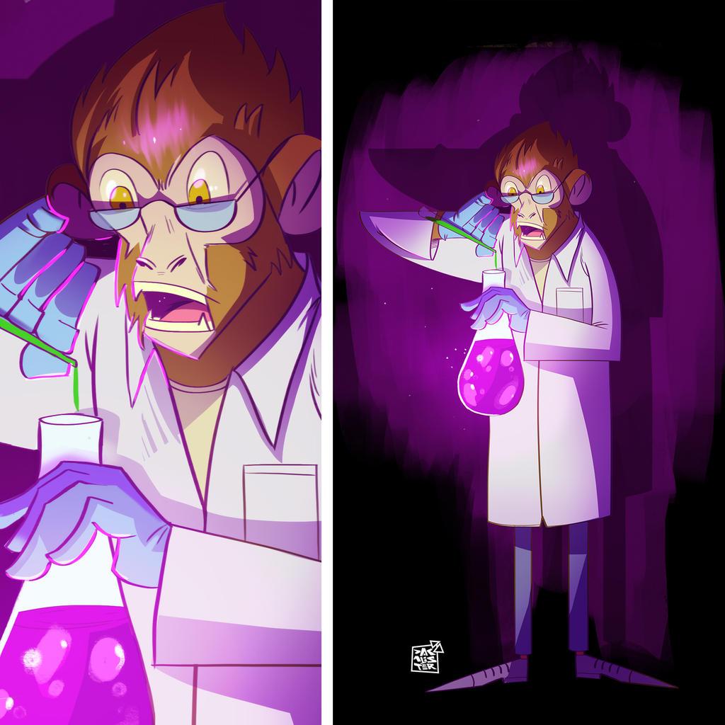 Science Monkey by dakalister