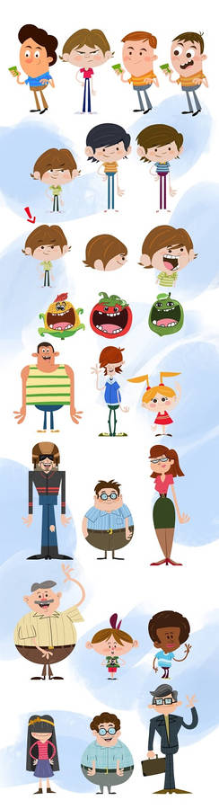character design for a tv comercial