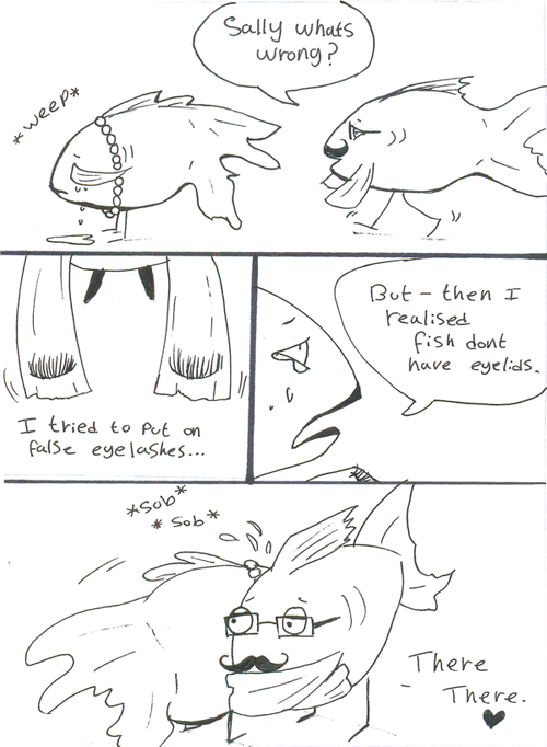 Fish dont have eyelids by marshmellowheaven on deviantart for What fish has eyelids