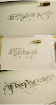 Drawings for 'Funkrush'