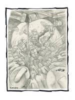 TMNT #2 Portfolio Plate by Kevineastman