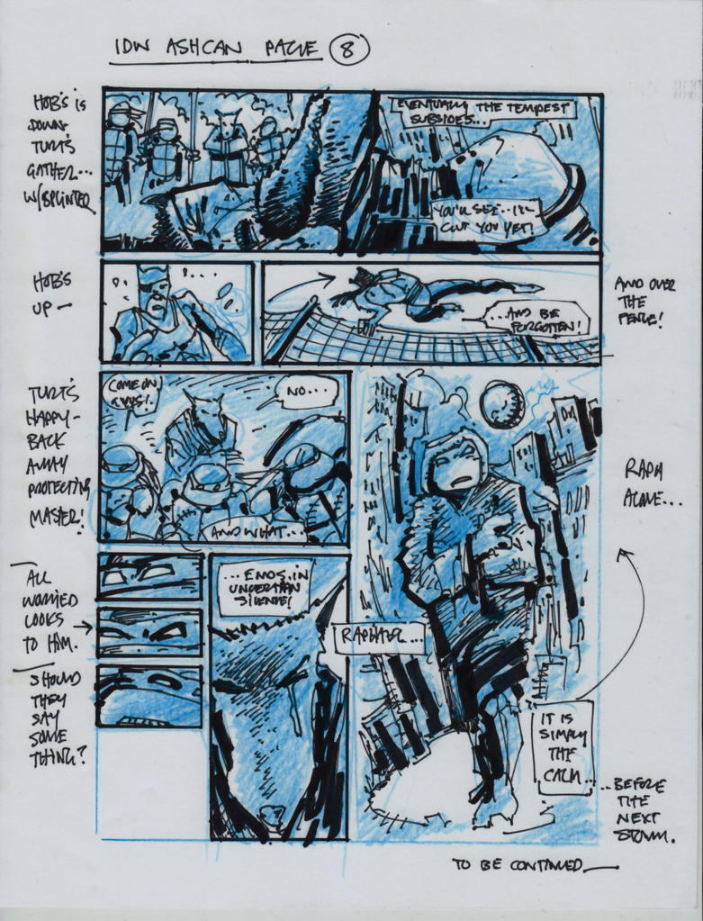 IDW TMNT One Page Eight by Kevineastman