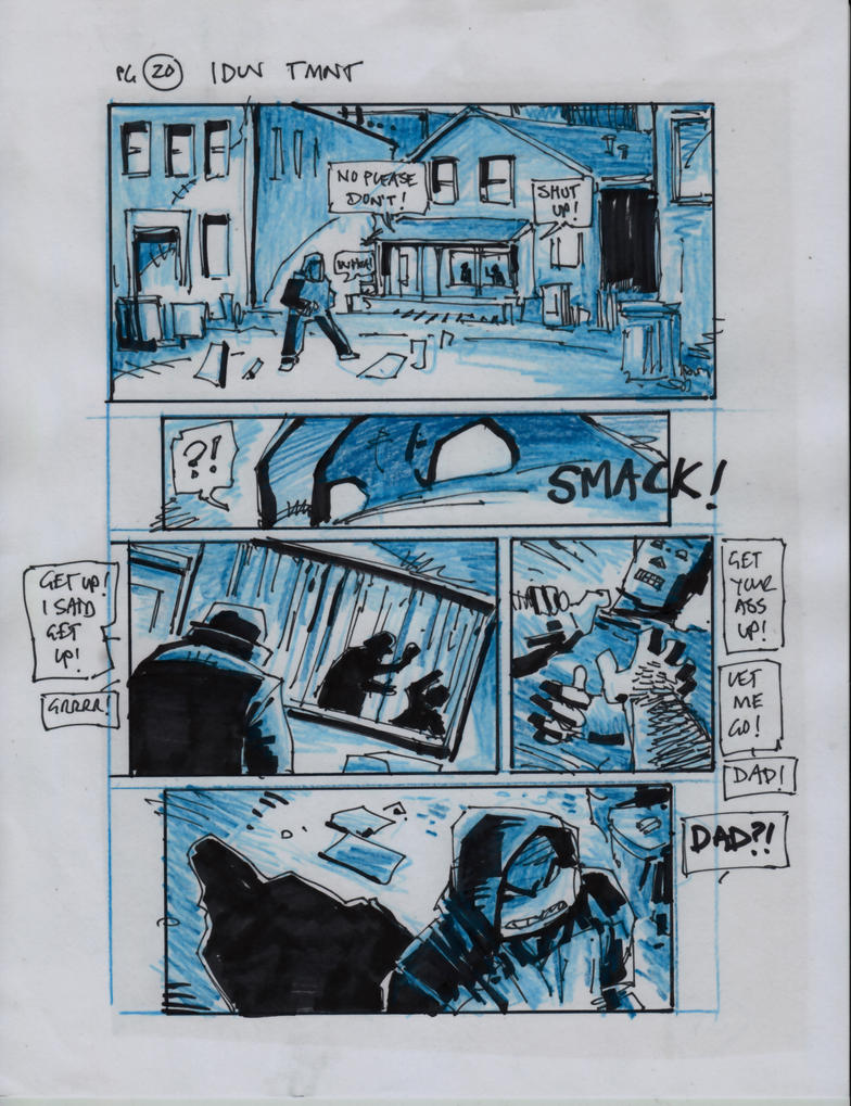 IDW TMNT One Page Twenty by Kevineastman