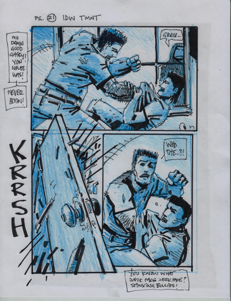 IDW TMNT One Page Twenty One by Kevineastman