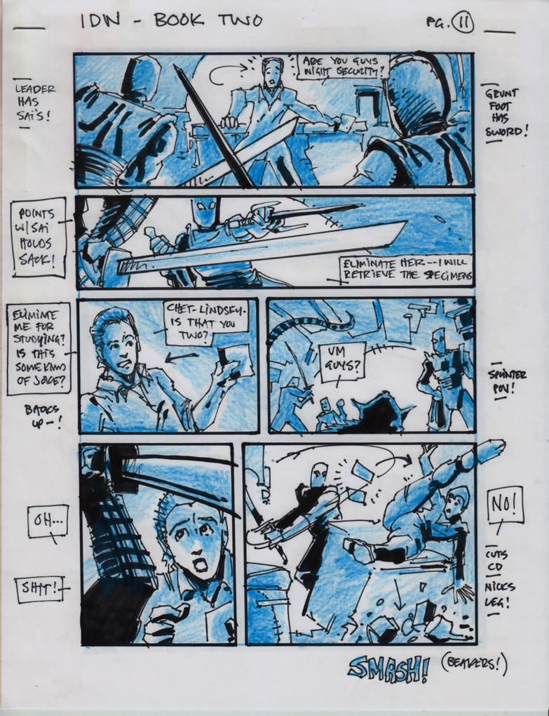 IDW TMNT Book Two Pg 11 by Kevineastman