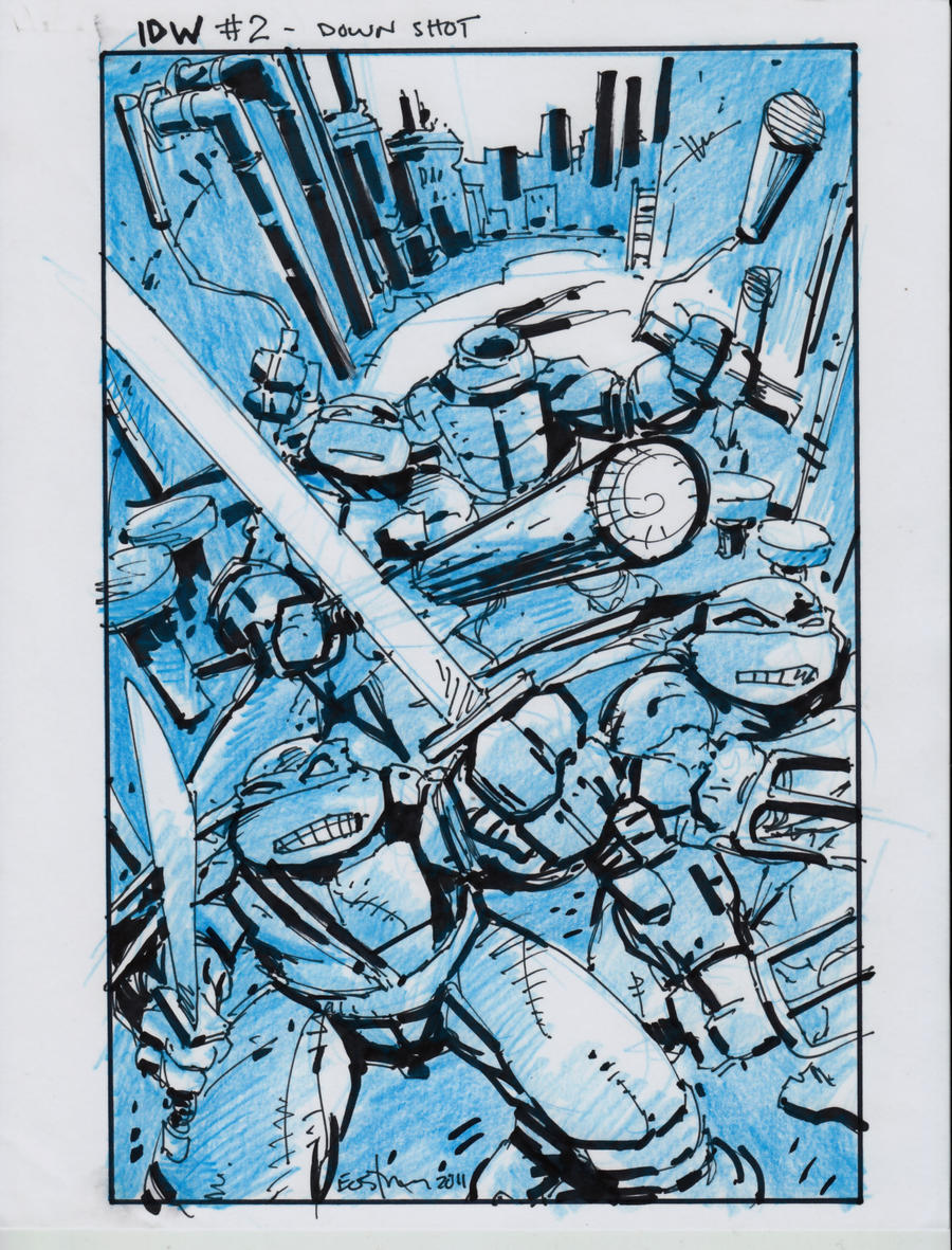 IDW TMNT Book Two Cover by Kevineastman