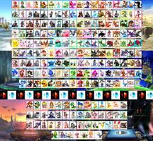 Super Smash Bros. Fan Roster by KanshinX3