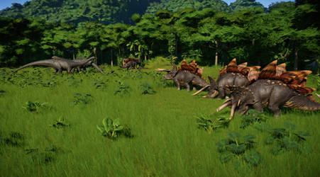 Jurassic World Evolution - World of hybrids by KanshinX3