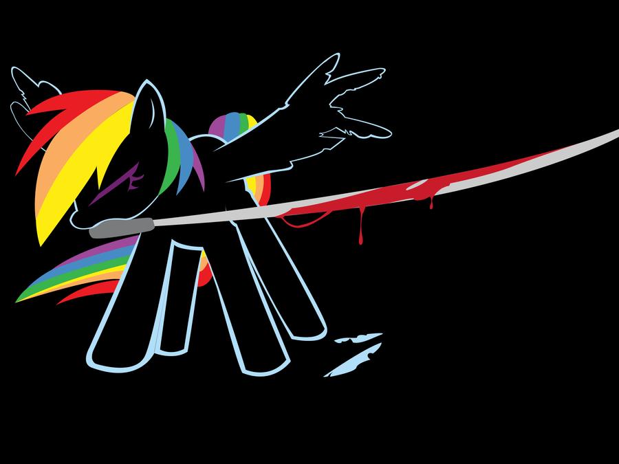 Rainbow Dash vector Wallpaper by swBanan1