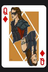 Commander Lexa Card by alternativejunkie