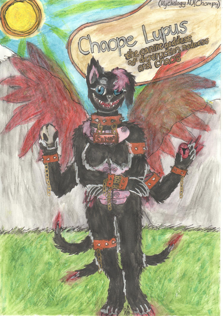 CHAOPE LUPUS mythologyAU Chompy by TheRainbowDragon