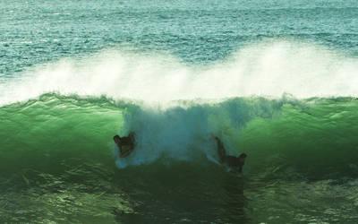 Porthleven Surf by moonstomp