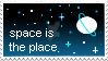 Space Is The Place Stamp by InvaderPies
