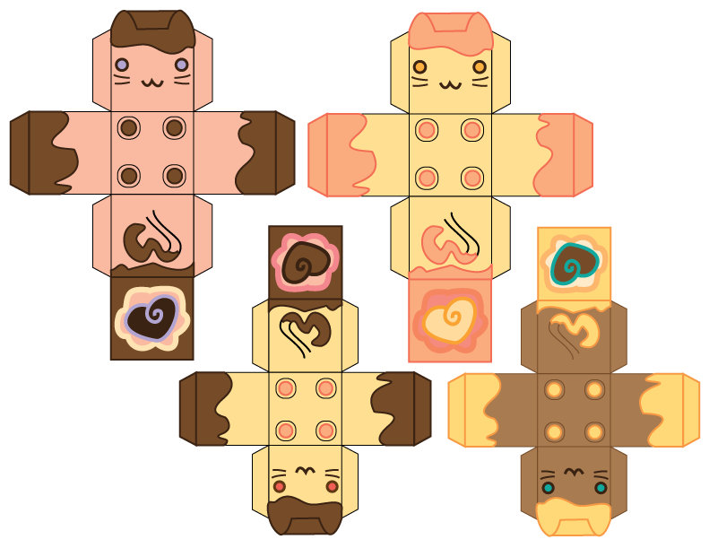Valentine's Cube Cats by kvweber on DeviantArt