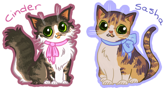 Cinder+Sasha Pocket-cats by kvweber