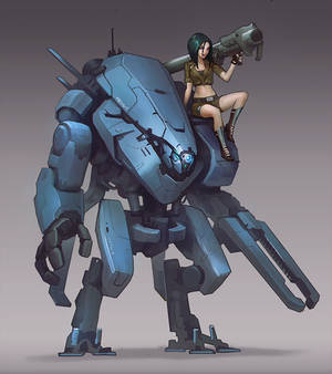 Mech and chick