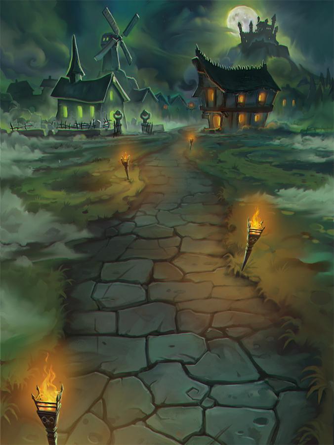 Night village by Callergi