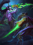 Illidan vs Zeratul by Callergi