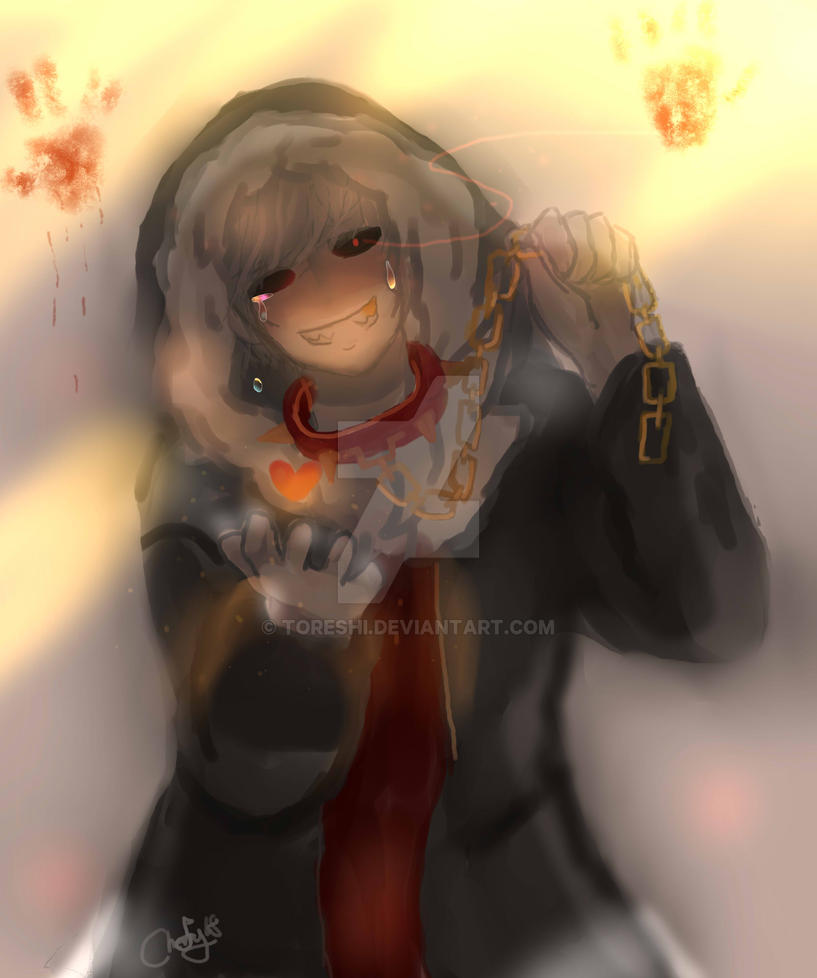 Human!Sans [underfell] by Toreshi