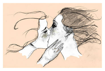 girls kiss by passinglife