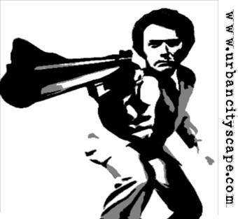 Dirty Harry Stencil Art by FragdollvsTheRising