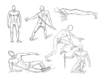 Poses #1 - Male by Kiara2909