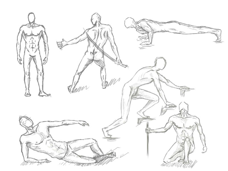 It is a picture of Fabulous Male Sitting Poses Drawing