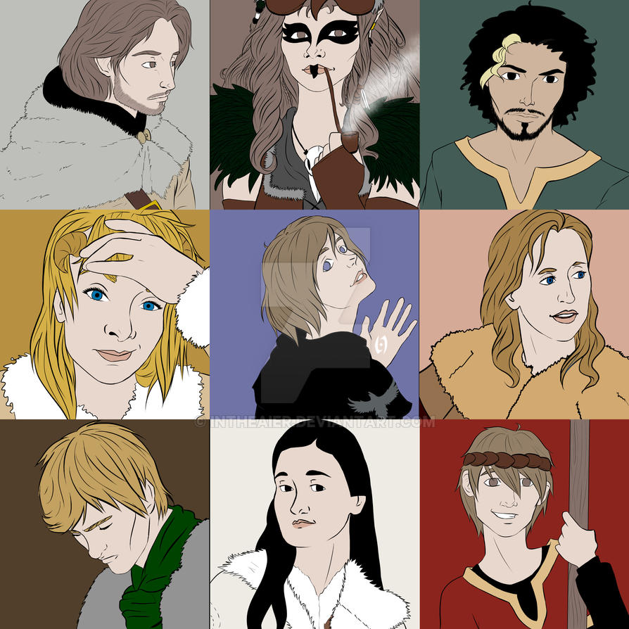 Empire LARP characters by InTheAier