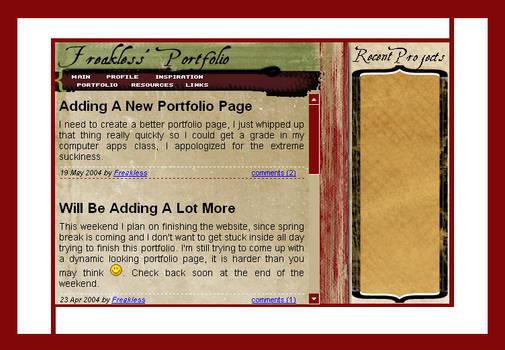 Freakless.net - My portfolio