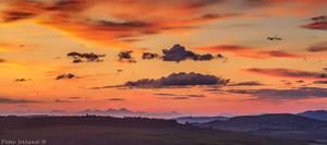 Red skies over Skye