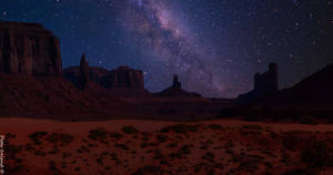 The Milky Way at Monument Valley