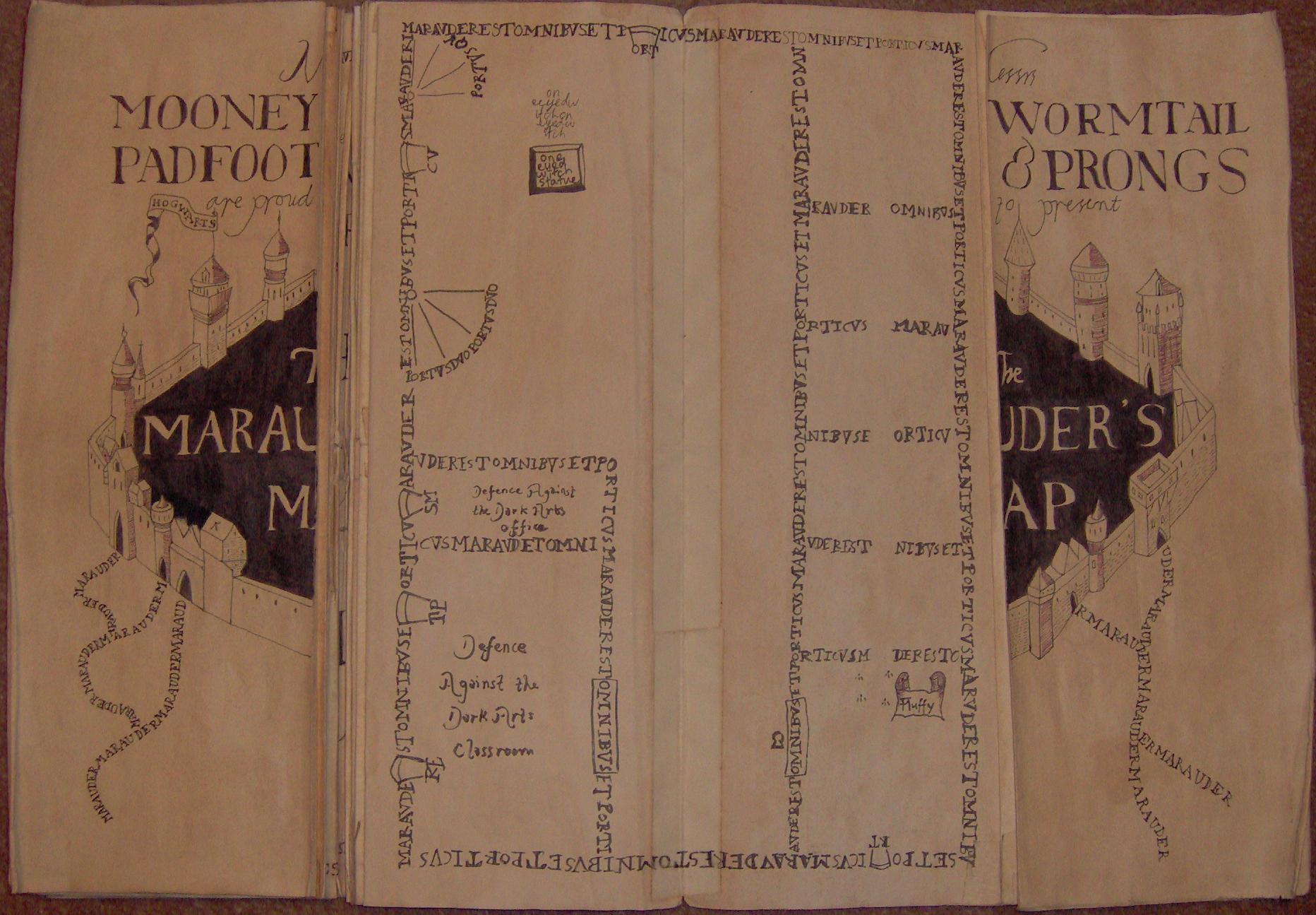Simple Wallpaper Harry Potter Map - marauder__s_map_3rd_floor_by_nixemus  Best Photo Reference_366320.jpg