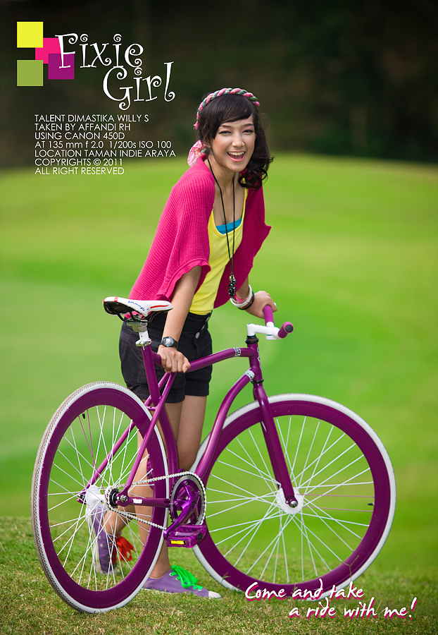 Tika the Fixie Girl by affotography