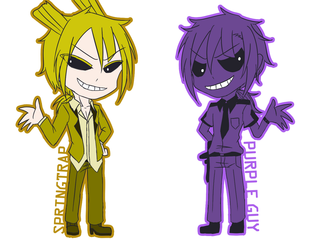 FNAF Springtrap And Purple Guy By Peggy8704 On DeviantArt