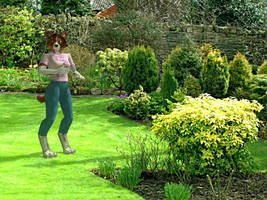 Collie in the Garden by Kryslin