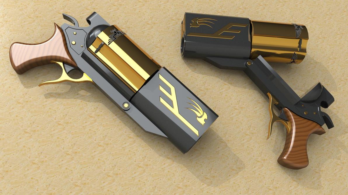 Bolt Revolver W40K by SteamTank