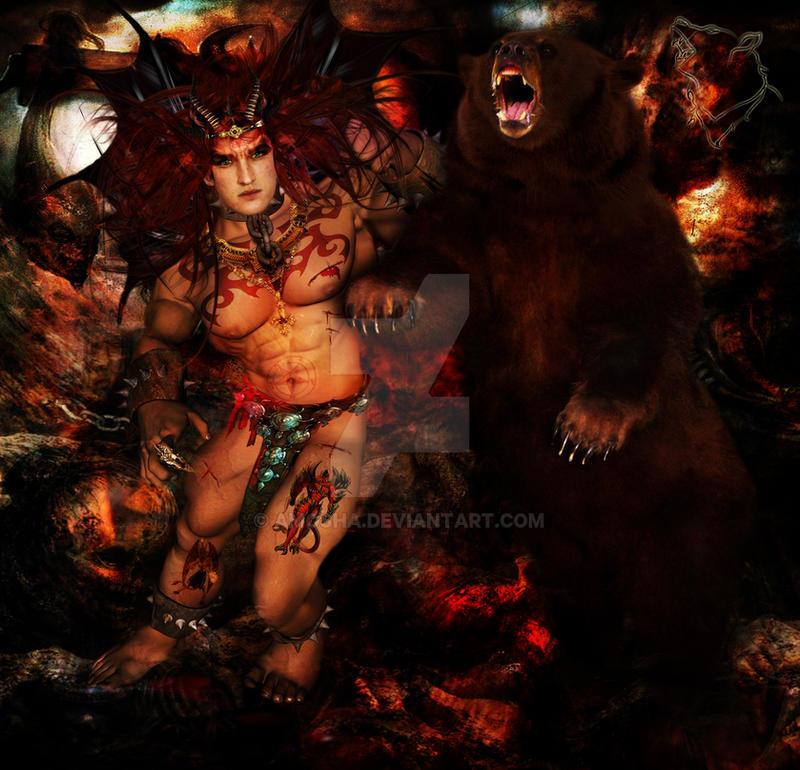SATAN-Demon of WRATH by Amosha