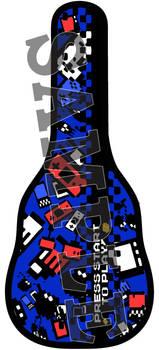 8 bit design blue