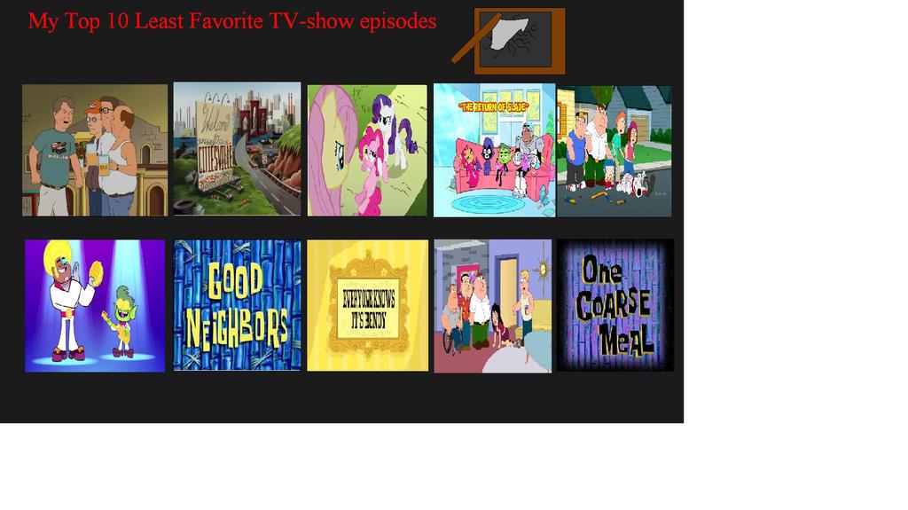 My top ten worst T-V episodes by zane4321