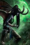 Illidan female cosplay by Knekht
