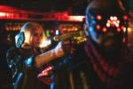 Cyberpunk 2077 V and Royce cosplay