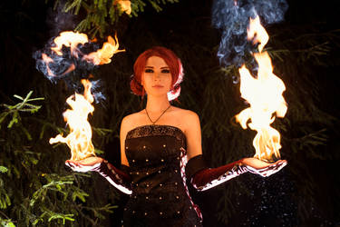 Halloween Triss cosplay by Katfromrivia