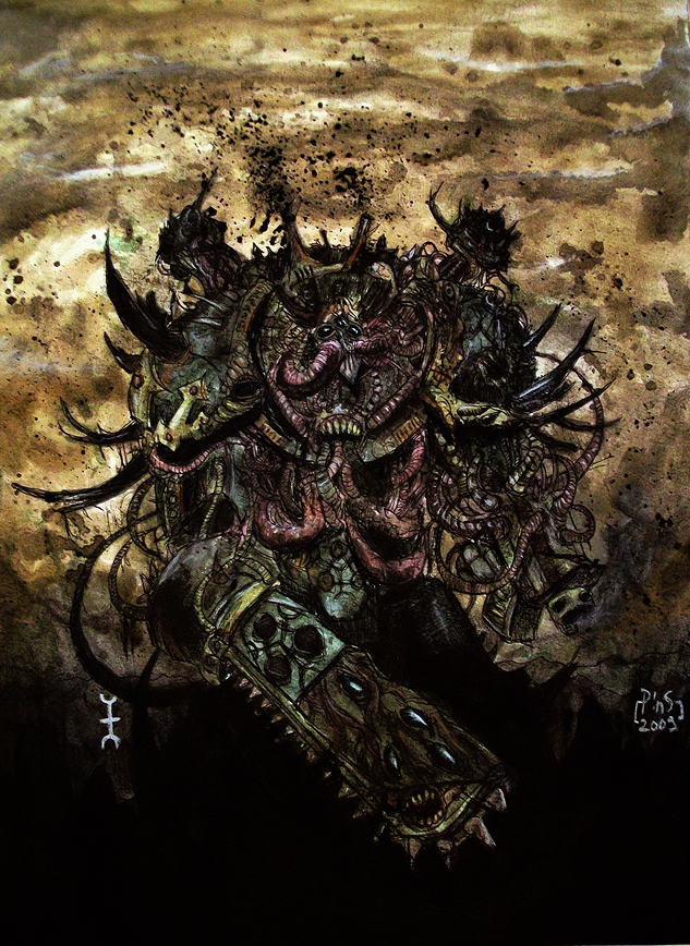 [W40K] Collection d'images : Space Marines du Chaos Plague_Marine_by_ThePins
