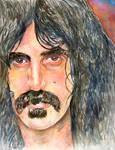 Frank Zappa Watercolor Portrait