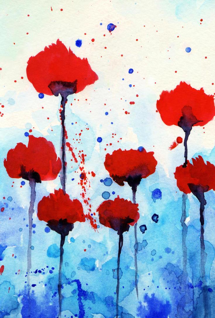 splash watercolor flowers 2 by Giulianobuffi on DeviantArt