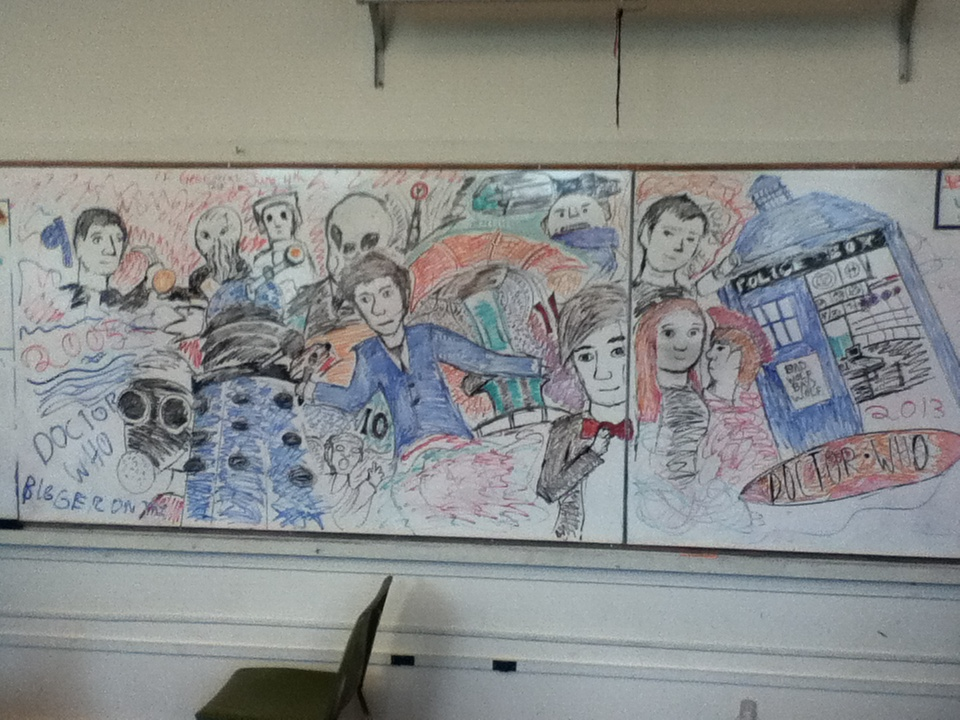 DOCTOR WHO 50TH MURAL By Herobrine 64 ... Part 86